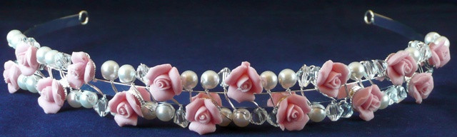 Pink Roses & Pearls